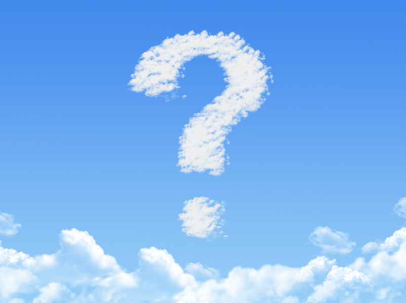 Cloud shaped as Question ,dream concept